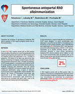 Spontaneous antepartal RhD alloimmunization
